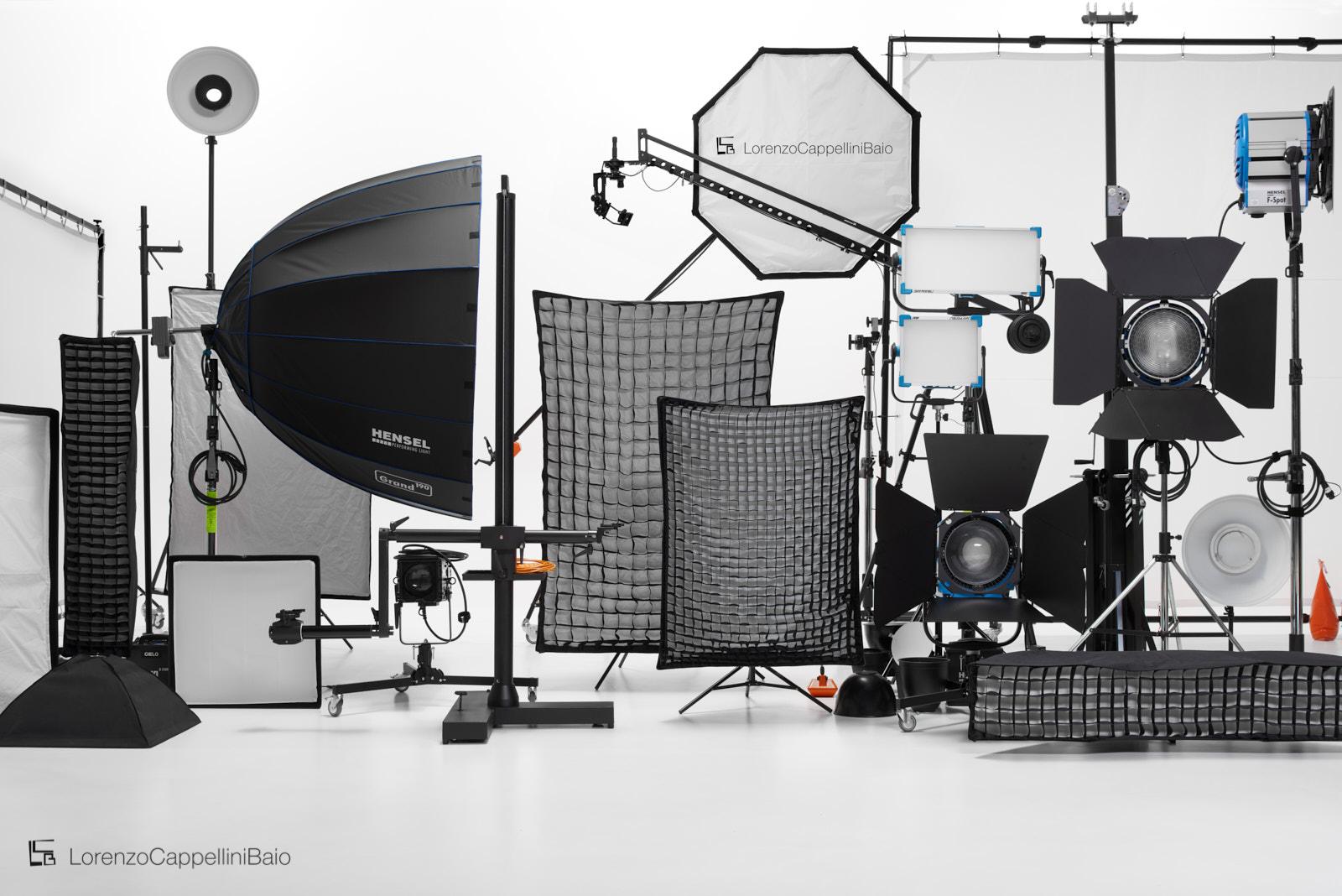 Attrezzatura fotografica a disposizione dello studio | LCBstudio