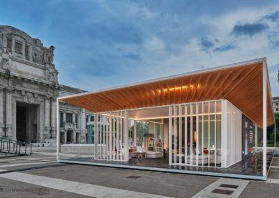 Prodotti MDFitalia in piazza Duca d'Aosta a Milano per il City Pavillion Expo 2015 | LCBstudio