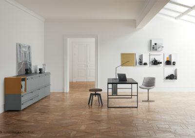 Foto di prodotti reali inseriti in ambientazioni 3D per l'aggiornamento del catalogo di MDFitalia 2018 | LCBstudio