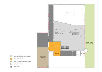 Piantina dello studio e sala posa | LCBstudio
