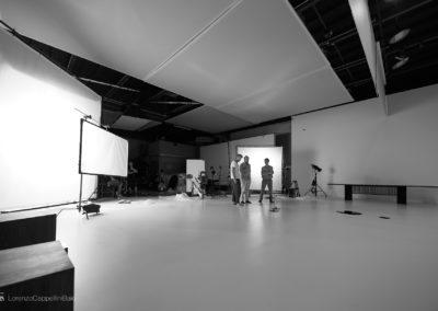 Il set durante le riprese